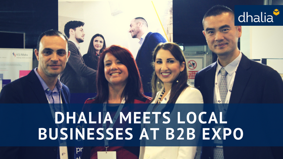 Dhalia meets local businesses at B2B Expo